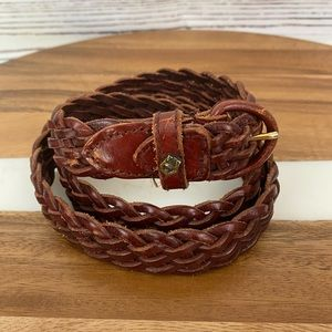 Etienne Aigner Braided Leather Belt